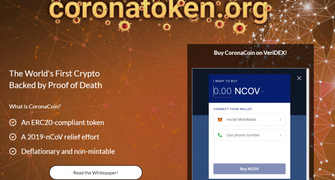 CoronaCoin Is One of the Latest Cryptocurrencies to Show Up
