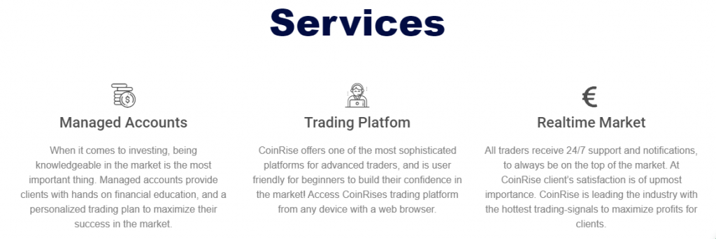 Coinrise services