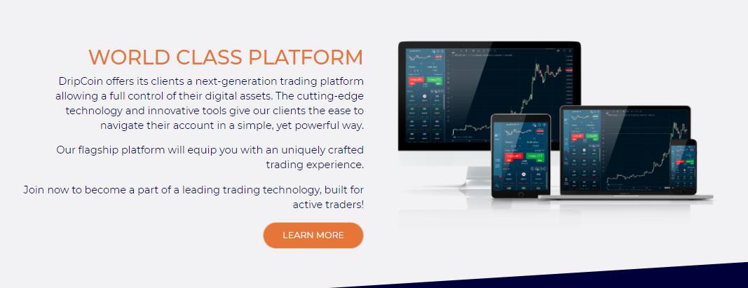 DripCoin innovative trading platform