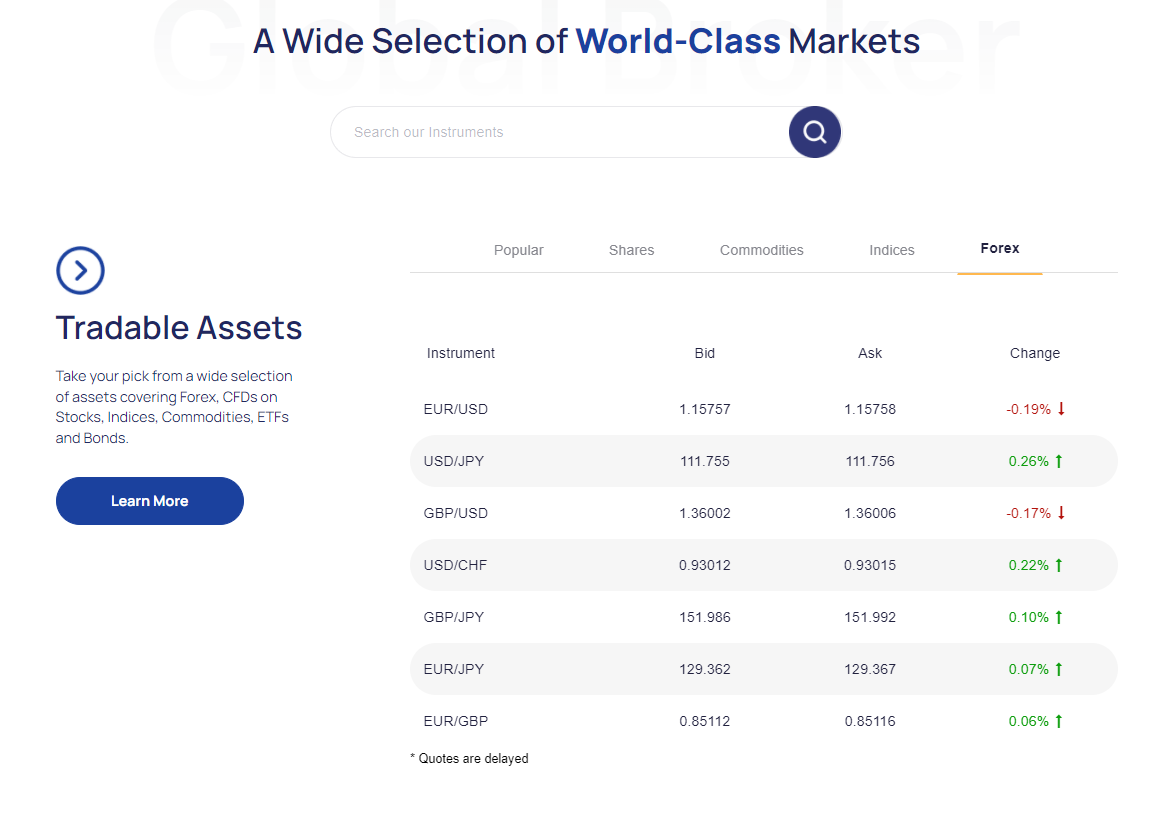 ArgoTrade asset selection
